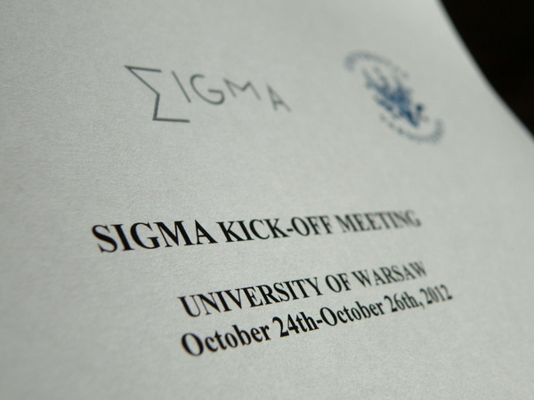 SIGMA Kick-off Meeting